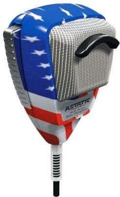Astatic 636-L Stars & Stripes Noise Cancelling 4-Pin Mic